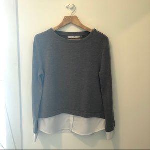 Elizabeth & Clarke Grey Layered Sweater